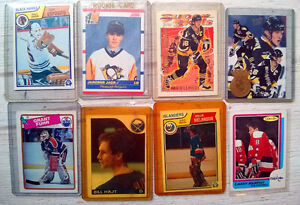Set of 8 Collectible Hockey Cards - NHL Licensed 80s-90s