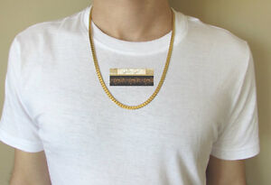 NEW 9K Yellow Gold Filled Men's Snake Chain/Chaine