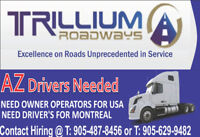Owner Operators and City Drivers for GTA/Ontario