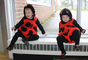 Halloween 2 Lady Bug Costumes great for twins, BFF's or cousins
