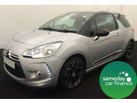 £178.20 PER MONTH SILVER 2012 CITROEN DS3 1.6 THP DSPORT 3 DOOR PETROL