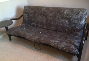 Black and White Futon in Excellent Condition
