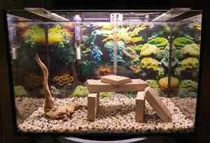 COMPLETE TRIMLESS  25G AQUARIUM JUST ADD WATER AND FISH