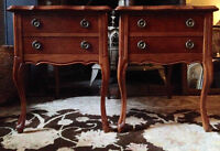 Premium Deilcraft 1967 French Provincial Side Tables