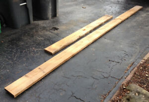 "Yellow Pine 2x8 Deck Lumber: 2 pcs: 6'8"" ($23) & 13'4"" ($46)"