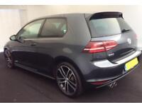 2014 GREY VW GOLF 2.0 TDI 184 GTD DSG DIESEL 3DR HATCH CAR FINANCE FR £50 PW