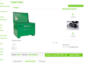 GREENLEEE Chest Tool Box