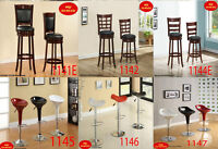 on sale now, ottomans, benches, chairs, stools, mini bar chaise,