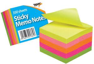 Stick pad Memo Notes Neon Block Cube Pad 2 x 2