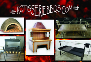 Charcoal rotisserie  bbqs for whole pig lamb etc