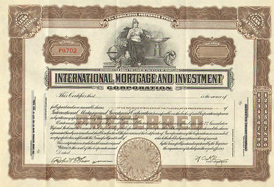International Mortgage Investment   7  Cumulative Preferred Stock Certificate
