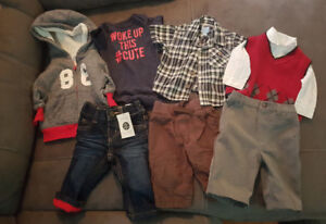 3 Month Boy Clothing 8 Piece. BNWT LINED JEANS