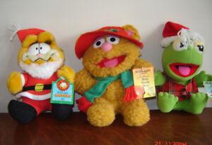 Vintage McDonalds Henson Christmas Muppets  & Garfield Santa