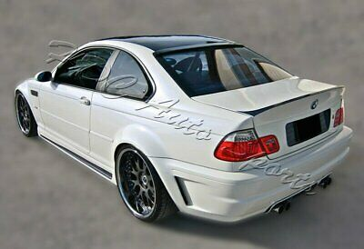 For 99-05 BMW E46 2DR 325ci 330ci M3 Real Carbon Fiber Rear Roof Window Spoiler