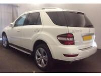 2011 WHITE MERCEDES ML300 3.0 CDI SPORT DIESEL AUTO 4X4 CAR FINANCE FROM 41 P/WK
