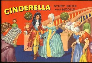 1950's CINDERELLA STORY BOOK with cut-out MODELS, Unused, RARE!