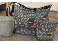 Storksak Nina grey changing bag