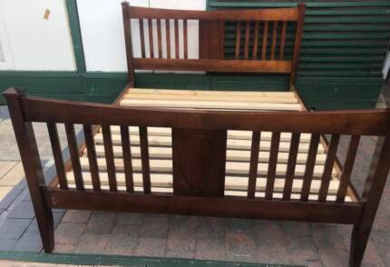 Excellent solid wooden king size bed frame only