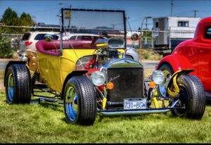 1927 Model T Ford Bucket HOT ROD with matching trailer