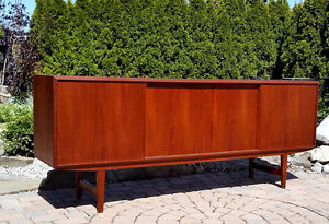 Mid-Century Modern Danish Teak Sideboard/ TV Media  REFINISHED