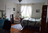 One large bedroom in a beautiful Plateau apartment available Jan
