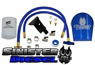 Sinister Diesel Coolant Filtration System Filter Kit 03-07 Ford Powerstroke 6.0L