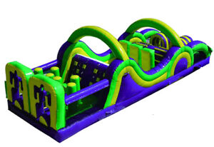 38 FT Dual Lane Purple Beast Obstacle Course - Daily Rental