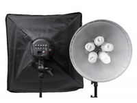 Two Photographic Studio lamps ideal for stills or video.