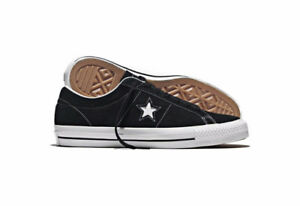 BRAND NEW CONVERSE ONE STAR BLACK WHITE SHOES SNEAKERS