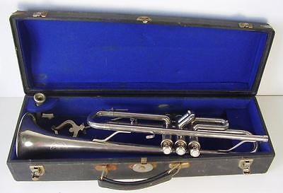 """Antike Trompete """" Weltklang """" im Koffer"""