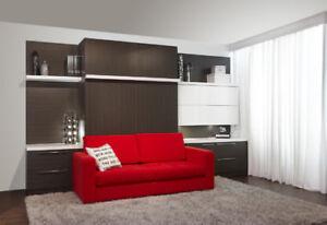 Lit escamotable avec sofa intégré à partir de 1,798.$