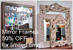 50% OFF Wood Dining, Coffee & End Table, TV Cabinet Mirror Frame