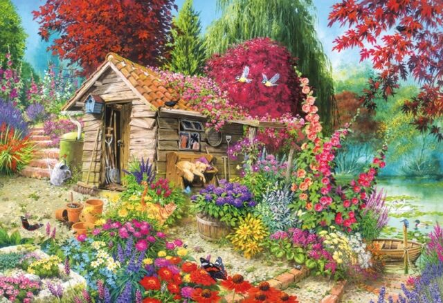 NEW! Gibsons A Dog's Life by John Francis 500 piece nostalgic jigsaw puzzle