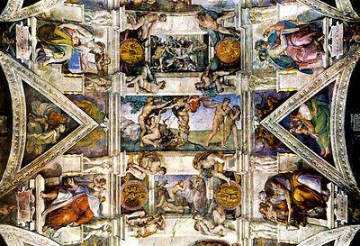 Michelangelo Creation Sistine Chapel Art Poster Adam Poster Print, 19x13
