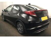 2014 BLACK HONDA CIVIC 1.6 I-DTEC 120 SE PLUS DIESEL 5DR CAR FINANCE FR £25 PW