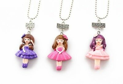 3PCS Kids Best Friend Forever Girl Necklace Pendants Necklaces For Children