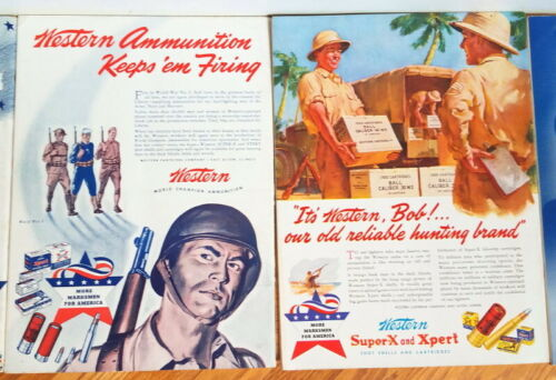 1942 American Rifleman magazine, 11 issues, patriotic ads, wartime preparedness