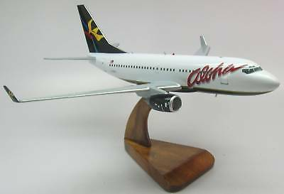 Boeing B-737 Aloha Air Airplane Desktop Dry Wood Model Replica SML Free Shipping