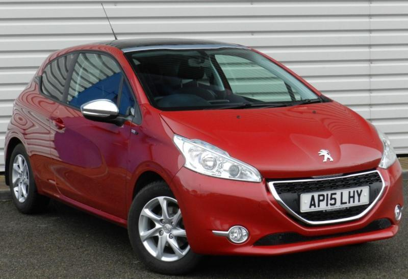 peugeot 208 style 1 2 puretech vti 3dr 2015 petrol manual red in saxmundham suffolk gumtree. Black Bedroom Furniture Sets. Home Design Ideas