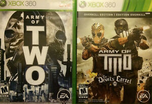"""2 """"Army of Two"""" games for Xbox 360"""