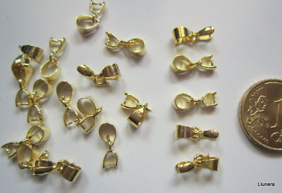 Colgador para colgante 12 mm X 8 UNIDADES baño dorado abalorios fornituras
