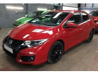 2016 RED HONDA CIVIC 1.6 I-DTEC 120 SPORT DIESEL 5DR HATCH CAR FINANCE FR £46 PW