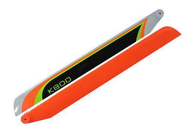 KBDD 325mm FBL Orange Extreme Edition Carbon Fiber Main Rotor Blades 450 Size