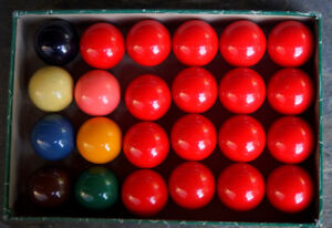 Nice Set of ARAMITH Belgian English Snooker Balls 2 1/8""