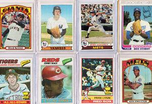 Lot de 8 cartes de Baseball (Johnny Bench,Willie McCovey,etc...)