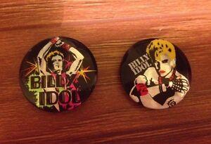 Vintage Billy Idol Pins