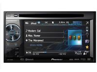 """Pioneer dvd CD player 5.8"""" touchscreen parrot Bluetooth with audio streaming sub aux"""