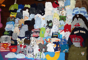 HUGE Lot of 91 items - Baby BOY clothes - 3 to 6 months old