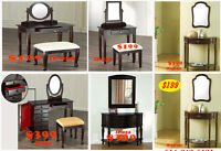 shop today, desks, vanities, chairs, stools, hutches, bookcase c