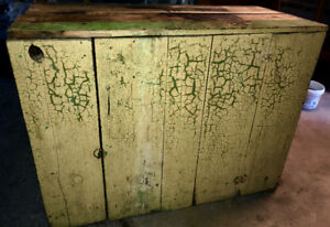 ANTIQUE CIRCA 1800 SOLID  CANADIANA PINE STORAGE UNIT
